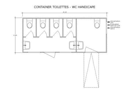 toilettes toilette handicap pal o location de mat riel. Black Bedroom Furniture Sets. Home Design Ideas